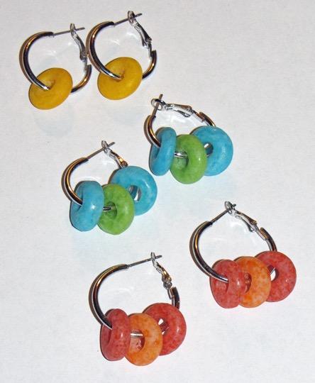 Froot loop earrings Fruit loop earrings